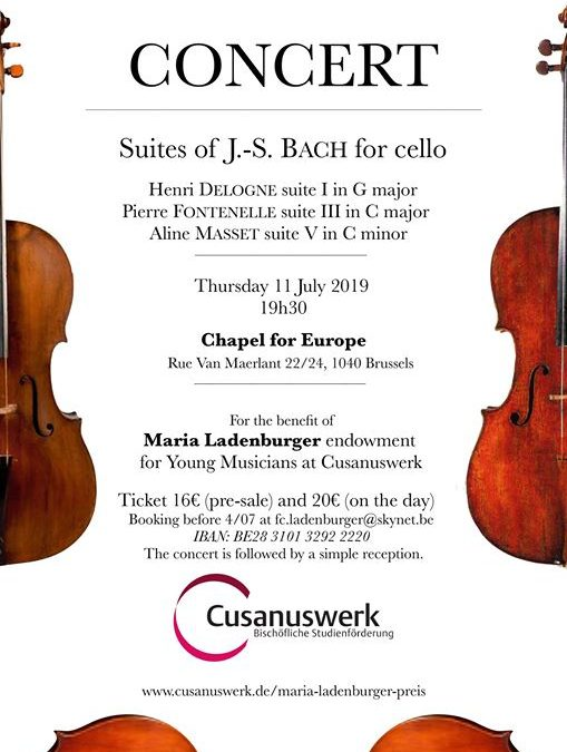 Concert – Suites of J.S. BACH for cello