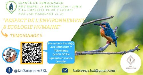Témoignage 5: Environnement & Ecologie humaine