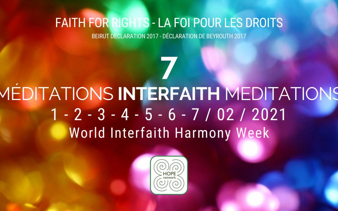 Faith for Rights – WORLD INTERFAITH HARMONY WEEK 1-7 Feb.2021